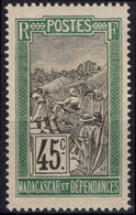MADAGASCAR 105 ** MNH Transport En Filanzane 1908-1917 - Nuovi