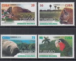 2010 Cuba Tourism Birds Butterflies Trees  Complete Set Of 4 MNH - Nuevos