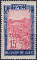 MADAGASCAR 157 ** MNH Transport En Filanzane 1927-1928 - Nuovi