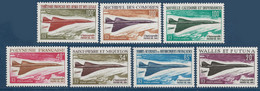 France Colonies Série Des Concordes 7 Valeurs Fraicheur Postale TTB - 1969 Avion Supersonique Concorde