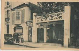 Arcachon  33  Hotel-Restaurant De L'Etoile-d'Or (Vve VIAU)-Trottoir Animé Et Voiture - Arcachon