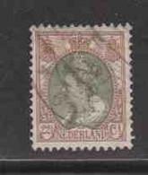 PAYS-BAS  (Y&T) 1898/1923 - N°58   *  Wilhelmine   *   22 1/2c.   Obli () - Used Stamps