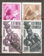 Guinea Española - Edifil 326-29 - Yvert 347-50 (usado) (o) - Guinea Española