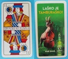 LASKO - Slovenian Beer * Single Playing Card * Playing Cards Carte à Jouer Spielkarte Bière Bier Cerveza Birra - Barajas De Naipe