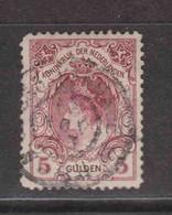 PAYS-BAS  (Y&T) 1899/1913 - N°63   *  Wilhelmine   *     5g.   Obli () - Used Stamps