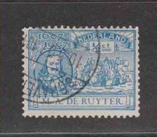 PAYS-BAS  (Y&T) 1907 - N°73   *  Tricentenaire De La Naissance De L'Amiral M.A.de Ruyter   *     1/2c   Obli () - Used Stamps