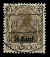 BES 1WK ETAPPE WEST Nr 1 Zentrisch Gestempelt X7795C2 - Occupation 1914-18