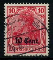 BES 1WK ETAPPE WEST Nr 4a Gestempelt X7795CE - Occupation 1914-18