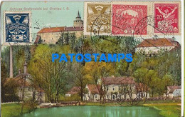 153987 CZECH REPUBLIC GROTTAU CASTLE GRAFENSTEIN CIRCULATED TO ARGENTINA POSTAL POSTCARD - Tsjechië