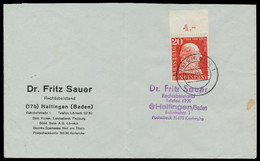 BRD 1957 Nr 277 BRIEF EF ORA X794CAE - Cartas