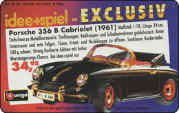 Germany - 1994 -  DE-S 36/94-1408  - DM 12 - Porsche 356 B Cabriolet (1961) - Used - Look Scans - Coches