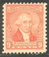 912 USA 1932 9c Washington By Williams MH * Neuf (USA-349) - Used Stamps