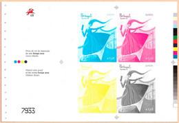 Portugal Azores Stamps - Color Proof - Europe Children's Books - Prove E Ristampe
