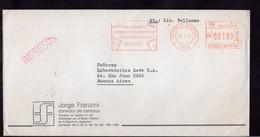 Argentina - 1990 - Lettre - Cachet Spécial - Affranchissement Mécanique - Bandeleta Parlante - A1RR2 - Cartas
