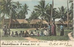 002250 - COOK - PENRHYN. SOUTH SEAS. VILLAGE SCENE. F.T. SERIES N°519 - 1906 - Cook Islands