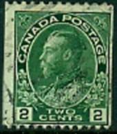 "-Canada-1914-""King George V-Admiral Coil""  (o) - Oblitérés"