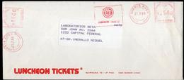 Argentina - 1989 - Lettre - Cachet Spécial - Affranchissement Mécanique - Luncheon Tickets - A1RR2 - Cartas