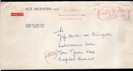 Argentina - 1987 - Lettre - Cachet Spécial - Affranchissement Mécanique - NCR Argentina -  A1RR2 - Cartas