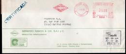 Argentina - 1988 - Lettre - Cachet Spécial - Affranchissement Mécanique - Grerardo Ramon & Cia - GRAMON - A1RR2 - Cartas