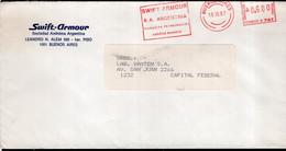 Argentina - 1987 - Lettre - Cachet Spécial - Affranchissement Mécanique - Swift-Armour - A1RR2 - Cartas