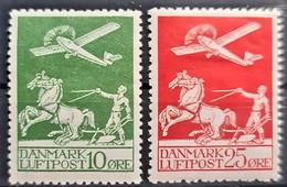DENMARK 1925 - MLH - Sc# C1, C3 - 10o 25o - Nuevos