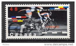 Canada, MNH, 2003, #1998, Cyclisme, Cycling, Vélo, Bicyclette, Bicycle - Nuevos