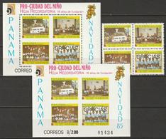 Panama 1985 Sc RA1107-10,1110a  Set In Block, Sheets Perf & Imperf MNH** - Panamá