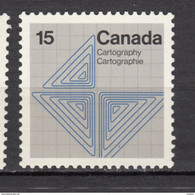 Canada, MNH, 1972, #585, Cartographie, Cartography - Nuevos