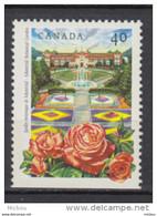 Canada, MNH, 1991, #1314, Rose, Jardin Botanique De Montréal Botanical Garden, Fontaine, Fountain - Nuevos