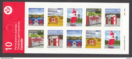 Canada, MNH, 2013, Carnet Complet, Complete Booklet, Drapeau, Flag, Feuille D'érable à Sucre, Maple Leaf, Bateau, Boat - Nuevos
