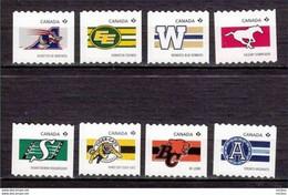 Canada, 2012, MNH, Coil, Roulette, Football (américain), Cheval, Félin, Horse, Wildcat - Nuevos