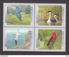 Canada, MNH, 1997, Sc1631-1634, Oiseau, Bird, Grebe, Gannet, Tanager, Chêne, Oak - Nuevos