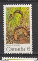 Canada, MNH, 1971, Sc 535, érable à Sucre, Maple Leaf, Arbre, Tree, Samare, Graine, Seed, Semence, Printemps, Spring - Nuevos