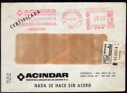 Argentina - 1988 - Lettre - Cachet Spécial - Affranchissement Mécanique - Acindar - A1RR2 - Cartas