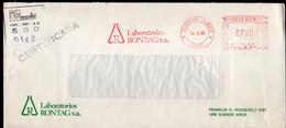 Argentina - 1986 - Lettre - Cachet Spécial - Affranchissement Mécanique - Laboratorios Rontag SA - A1RR2 - Cartas