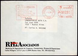 Argentina - 1988 - Lettre - Cachet Spécial - Affranchissement Mécanique - RH & Asociados - A1RR2 - Cartas