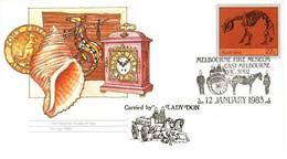 Australia PM 1006 1983 Melbourne Fire Museum, FDI Pictorial Postmark - Postmark Collection