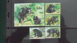 Vietnam Viet Nam MNH Perf Specimen Stamps And Souvenir Sheet 2012 : Bear (Ms1018) - Vietnam