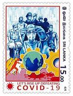 SRI LANKA 2020 MNH Frontline Heroes , Covid-19, Coronavirus , Mask, Doctor, Nurse, Vaccine ,Army, Food 4/4 (**) - Sri Lanka (Ceylon) (1948-...)