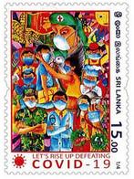 SRI LANKA 2020 MNH Frontline Heroes , Covid-19, Coronavirus , Mask, Doctor, Nurse, Vaccine ,Army, Food 1/4 (**) - Sri Lanka (Ceylon) (1948-...)