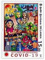 SRI LANKA 2020 MNH Frontline Heroes , Covid-19, Coronavirus , Mask, Doctor, Nurse, Vaccine ,Army, Food 3/4 (**) - Sri Lanka (Ceylon) (1948-...)