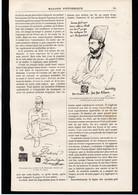 TURQUIE - Deux Illustrations Du Chah Nasser-Eddin - Article Papier Coupure De Presse  - Année 1896 - Unclassified