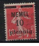 MEMEL             N°     YVERT   19  ( 1 ) OBLITERE       ( Ob  9/52 ) - Used Stamps