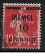 MEMEL             N°     YVERT   19  ( 2 ) OBLITERE       ( Ob  9/52 ) - Used Stamps