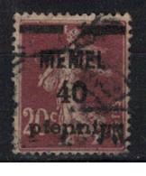 MEMEL             N°     YVERT   22     OBLITERE       ( Ob  9/52 ) - Used Stamps