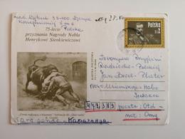 1980..POLAND. POSTCARD  WITH ORIGINAL STAMP.75 Th ANNIVERSARY OFAWARDING THE NOBEL PRIZE TO HENRYK SIENKIEWICZ - Briefe U. Dokumente