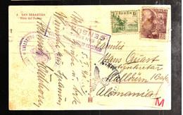 43825 - De SAN SEBASTIAN Pour L'Allemagne - 1931-50 Cartas