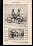 MOTO CYCLES - Nouveaux Motocycles - Article Papier Coupure De Presse  - Année 1896 - Unclassified