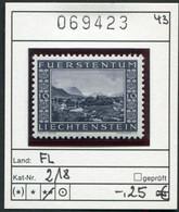 Liechtenstein - Michel 218 - ** Mnh Neuf Postfris - - Unused Stamps