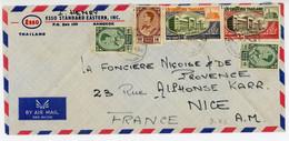 THAILANDE ENV 1984 BANGKOK LETTRE AVION SUPERBE COMPO - Thaïlande